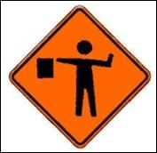 roadwork flagman