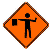 roadwork flagman
